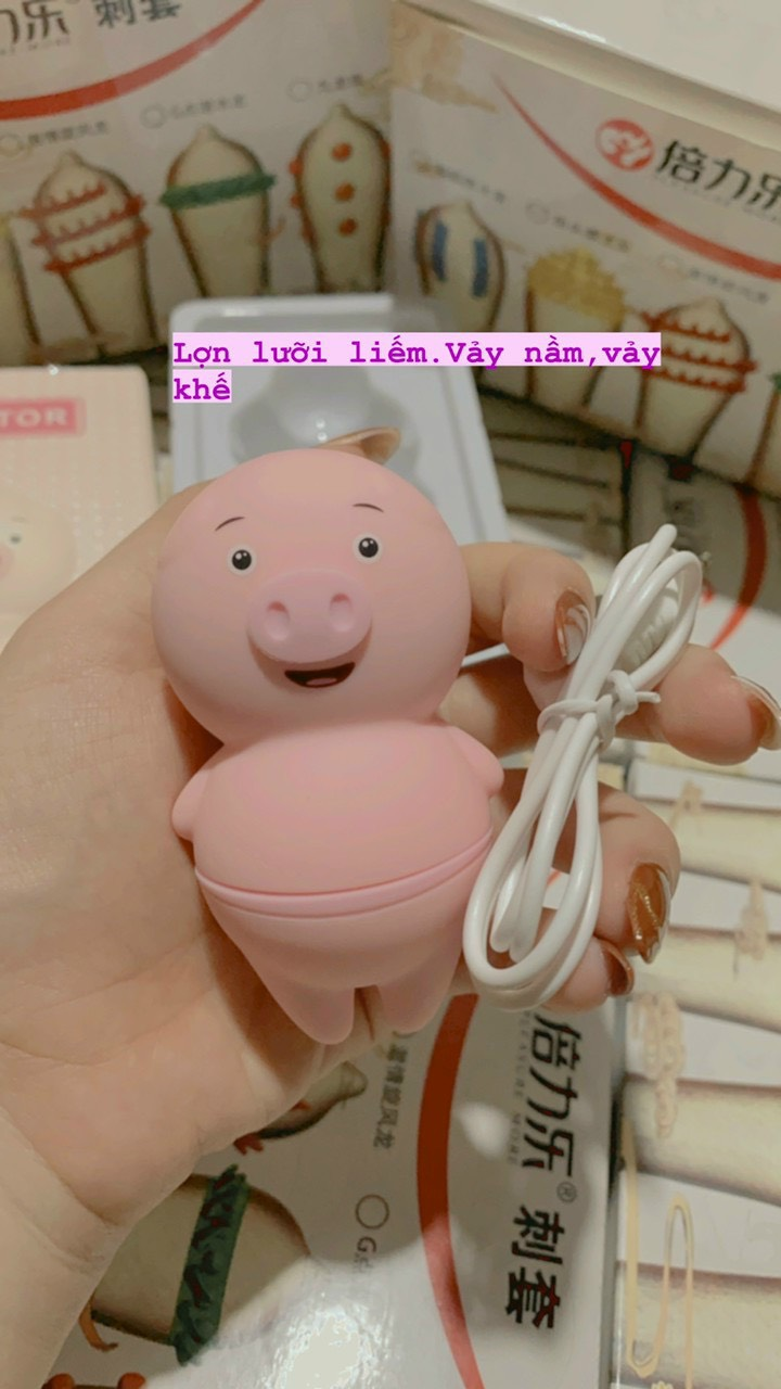 Dễ Thương Lợn Lưỡi Liếm Rung Bằng Miệng Đồ Chơi Tình Dục Cho Phụ Nữ 6 Chế Độ Clitoris Anus Stimulator Nữ Thủ Dâm Người Lớn Cửa Hàng Tình Dục