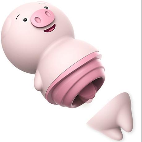 Mô tả Trứng rung lưỡi liếm Hình con heo  Trứng rung lưỡi liếm Hình con heo có thiết kế hình con heo cực kỳ xinh xắn, dễ thương tạo ngụy trang che đi sự nhạy cảm. Với nắp vặn là bụng heo bẻ đôi, nó có thể vừa là đồ chơi tình dục cũng có thể để tự do trong phòng riêng của bạn mà không hề nhạy cảm. Máy có vỏ bằng nhựa ABS cực bền, phần lưỡi liếm bằng silicone mềm mại mượt mà rất an toàn với vùng kín của chị em.